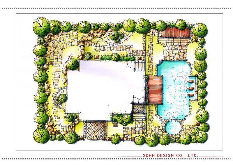南宁庭院设计 温泉别墅花园