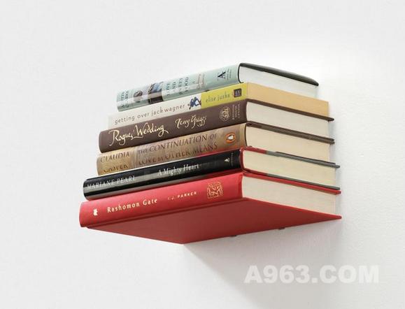 这是一种隐形的书架喔,赶快去买一些漂亮的书来装饰你的大白墙吧!