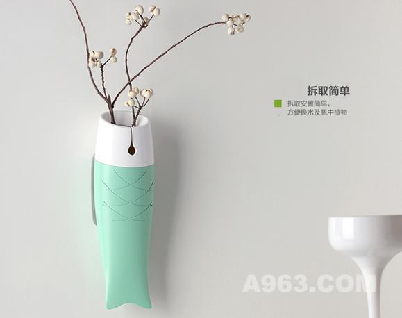 把盆栽挂在墙面上也是一种不错的选择。