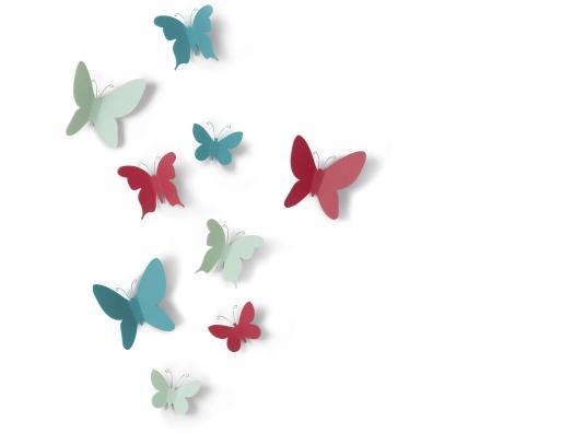 蝴蝶百合墙面