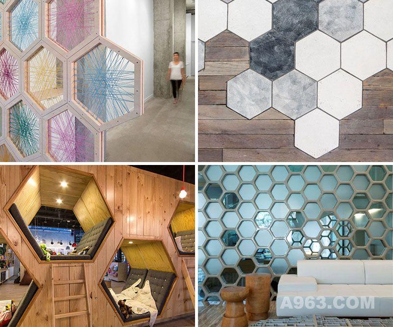 19个室内设计和建筑中使用蜂窝元素的好例子
