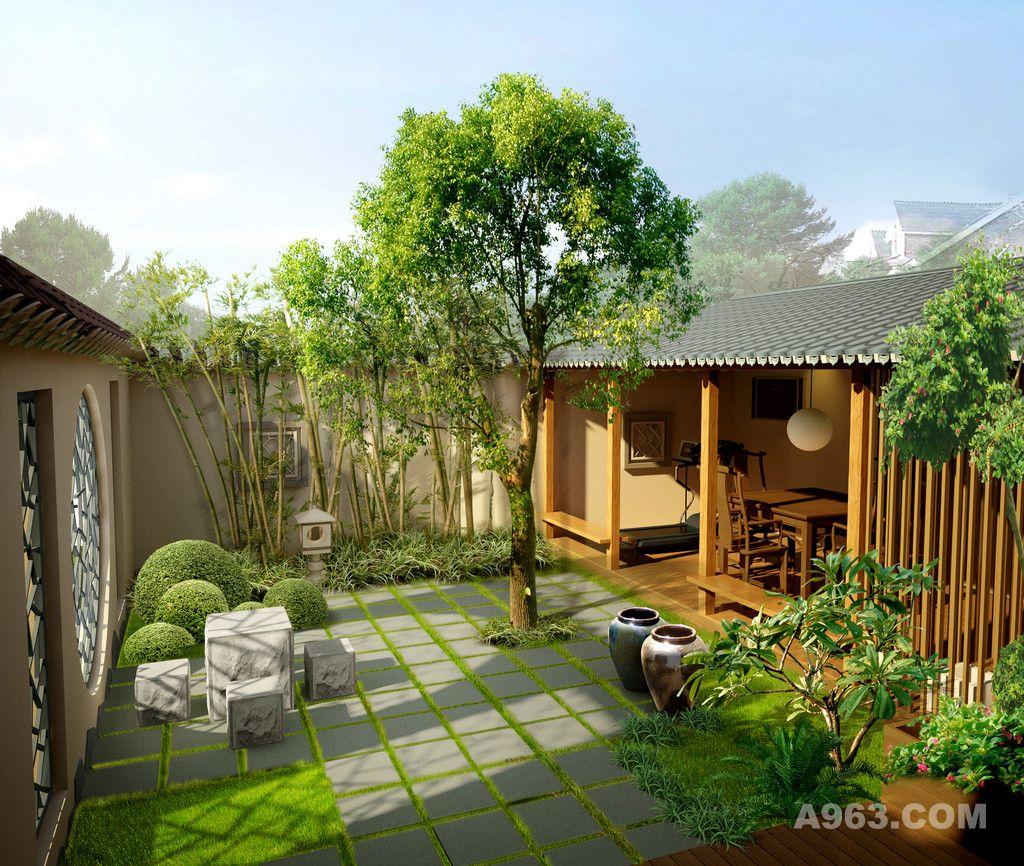 屋顶花园设计案例效果图图片