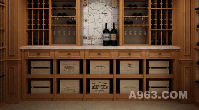 罗马时代原木精装酒窖设计