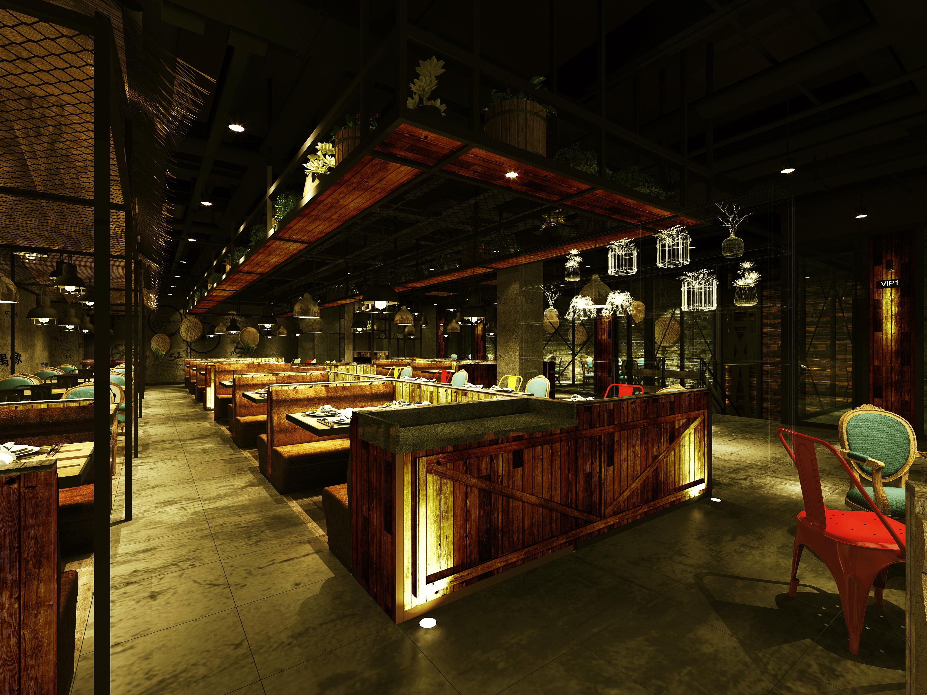 西瑞尔代表作品——鄉恋食尚餐饮空间
