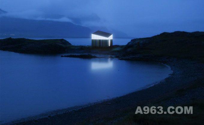 融于自然景色的冰岛旅行小屋