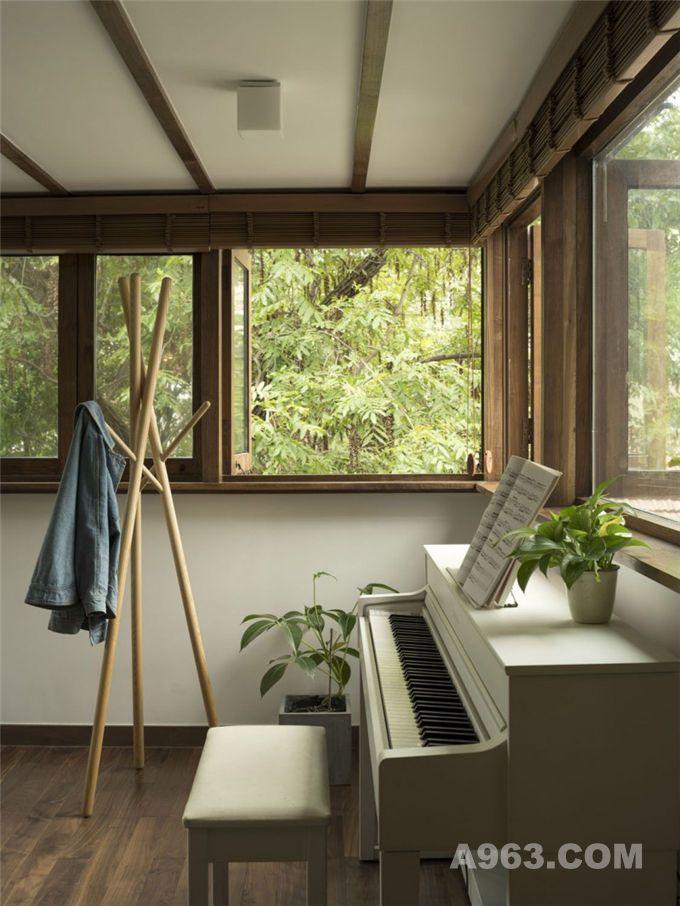 小而精致,枫之家旁的案例杨树_铺面精品-A963绿色三层农村自建房设计图图片