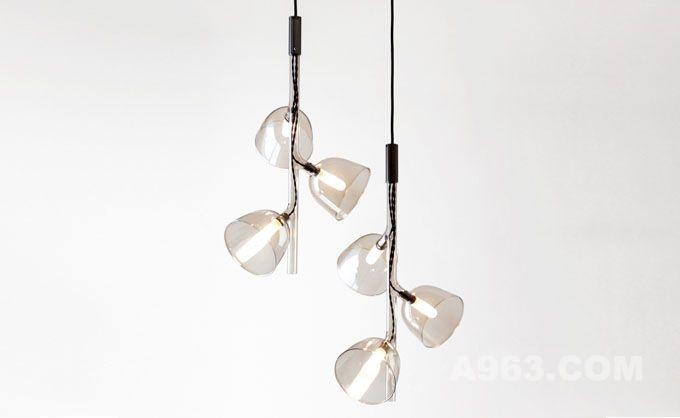 一体成型,时尚细腻的玻璃吊灯