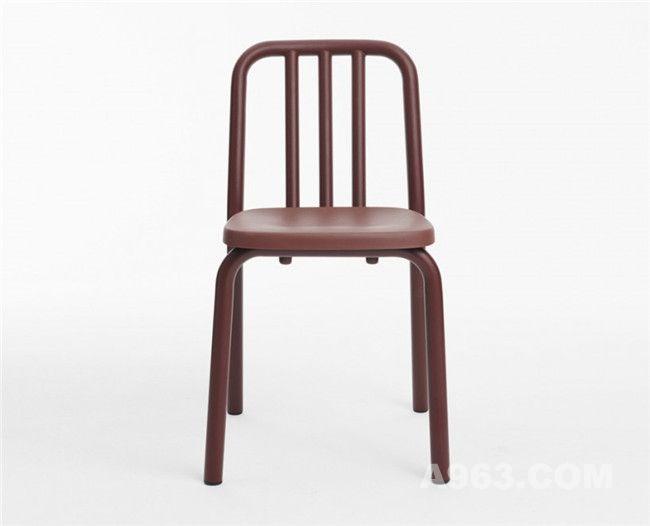 无扶手的管条椅