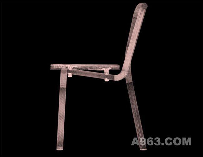 无扶手的管条椅X光照片
