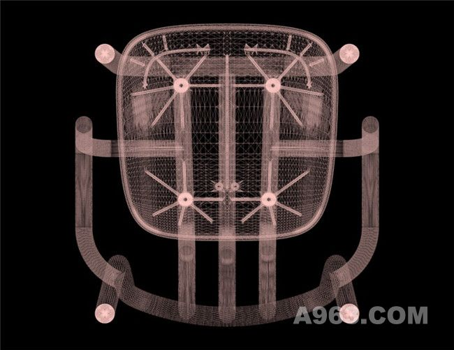 管条扶手椅底部X光照片