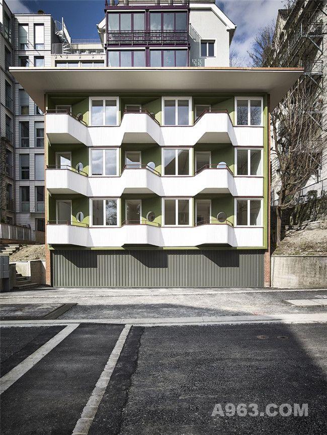 瑞士苏黎世现代主义商住公寓