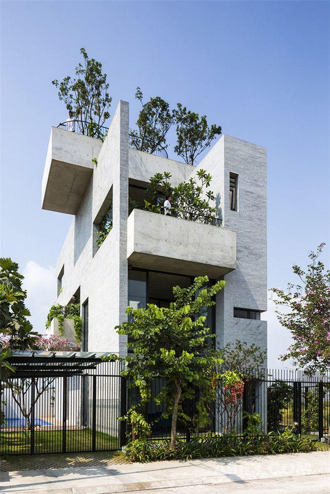 """""""绿""""动空间,典型越南住宅设计"""