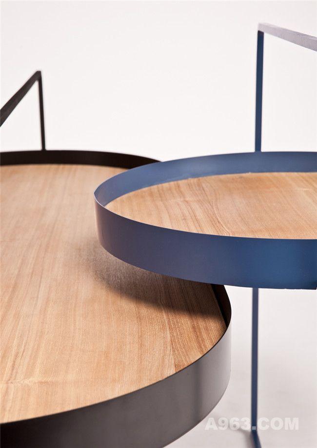 木质与金属结构结合细节