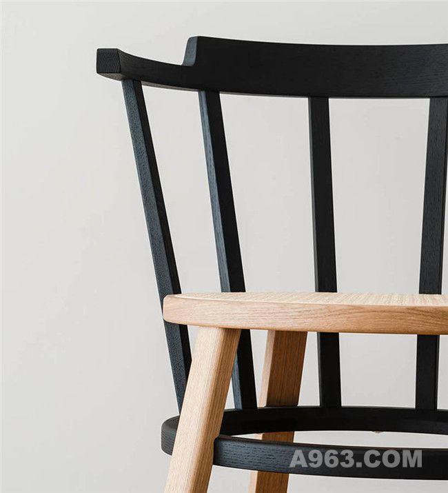 座椅椅面和靠背相互连接
