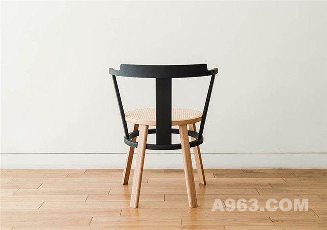 明代风格座椅后视图