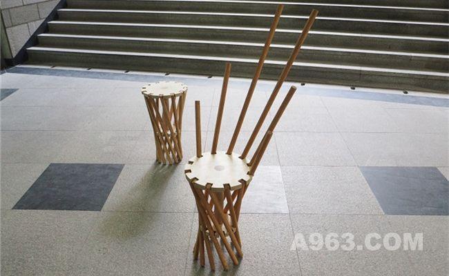 运用工程设计学的坚固圆木椅