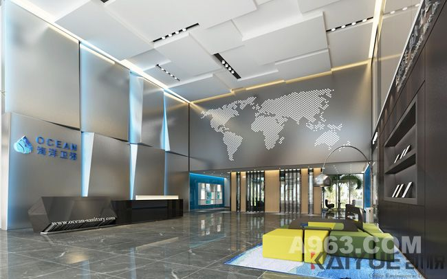 满满的海洋气息-办公室设计效果图