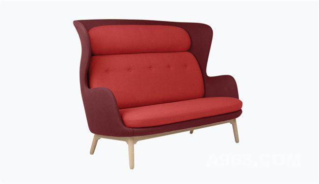 红色款温馨双人沙发
