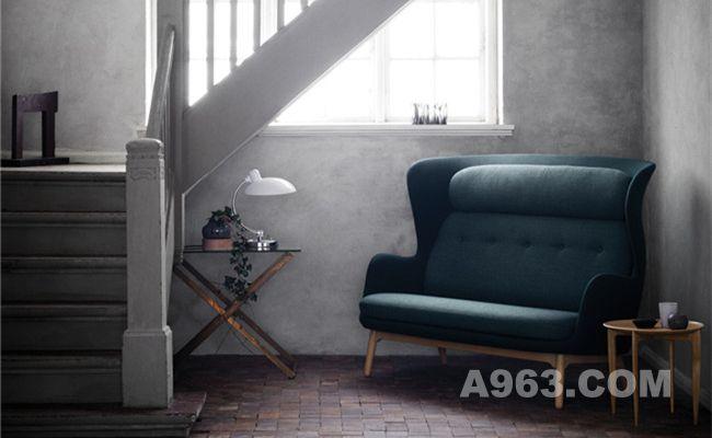 藏青色款温馨双人沙发