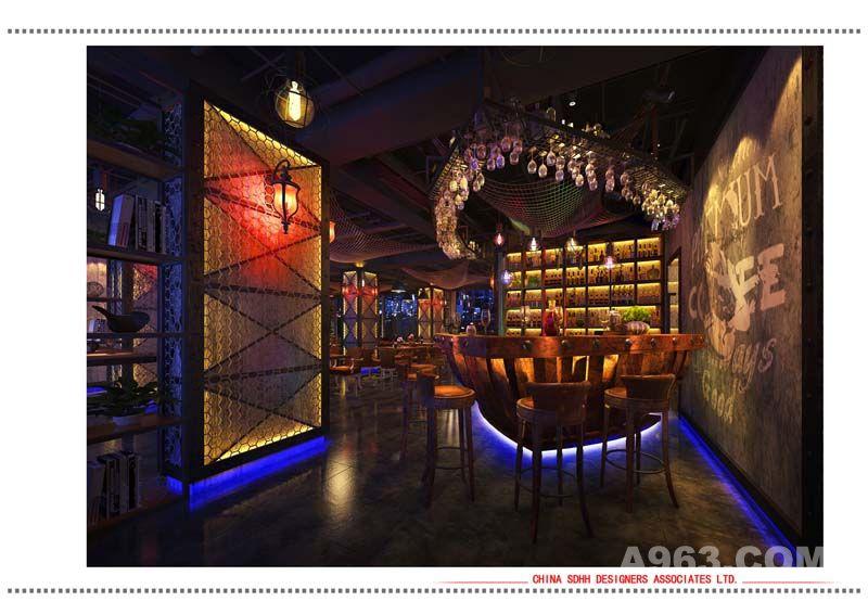 南宁音乐餐厅装修设计 盛天地店