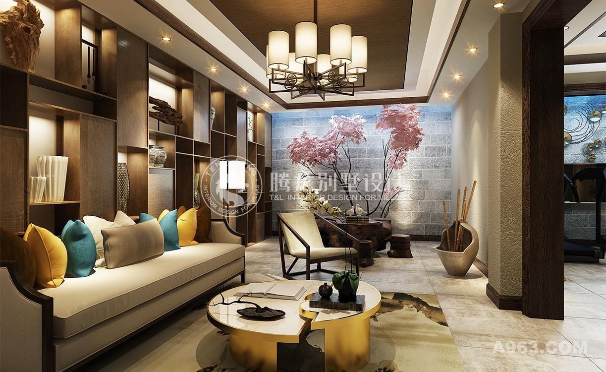秋霞坊260平联排别墅新中式设计方案