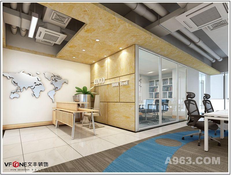 海盈科技--深圳办公室装修效果图说明