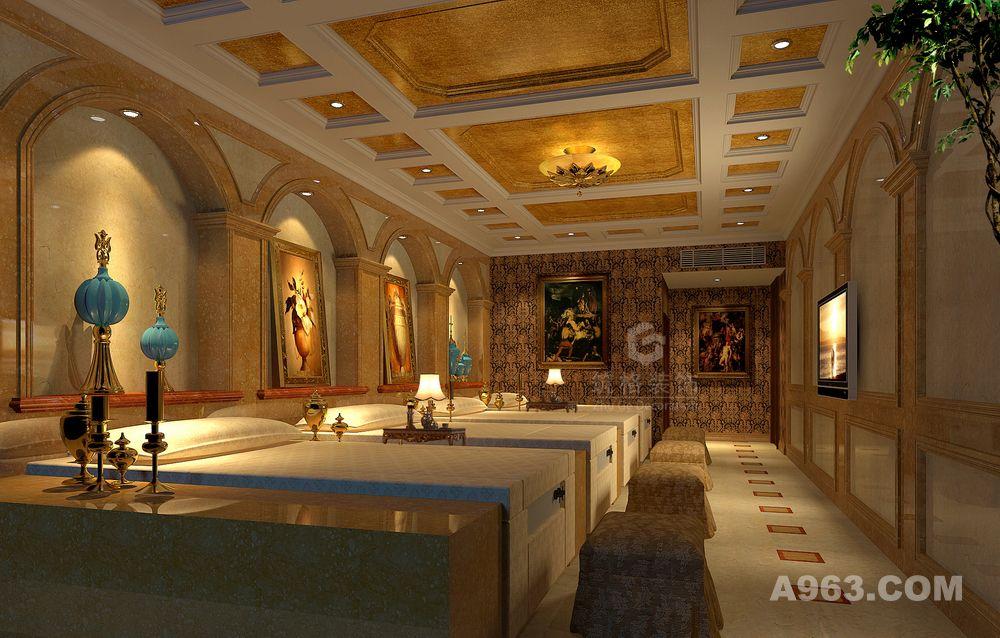 成都足浴会所装修设计公司丨筑格装饰
