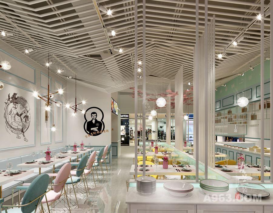 【鱼东家藤椒酸菜鱼餐厅】成都特色餐厅设计|成都专业餐厅装修|成都专业餐厅设计公司