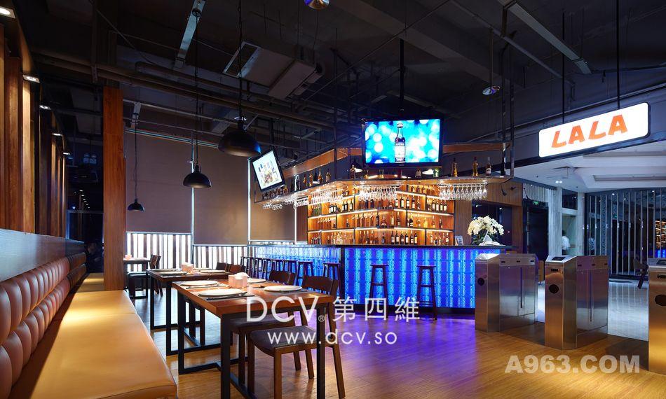西安顶级豪华美式时尚餐厅设计-LALA LAND 加州阳光自助披萨