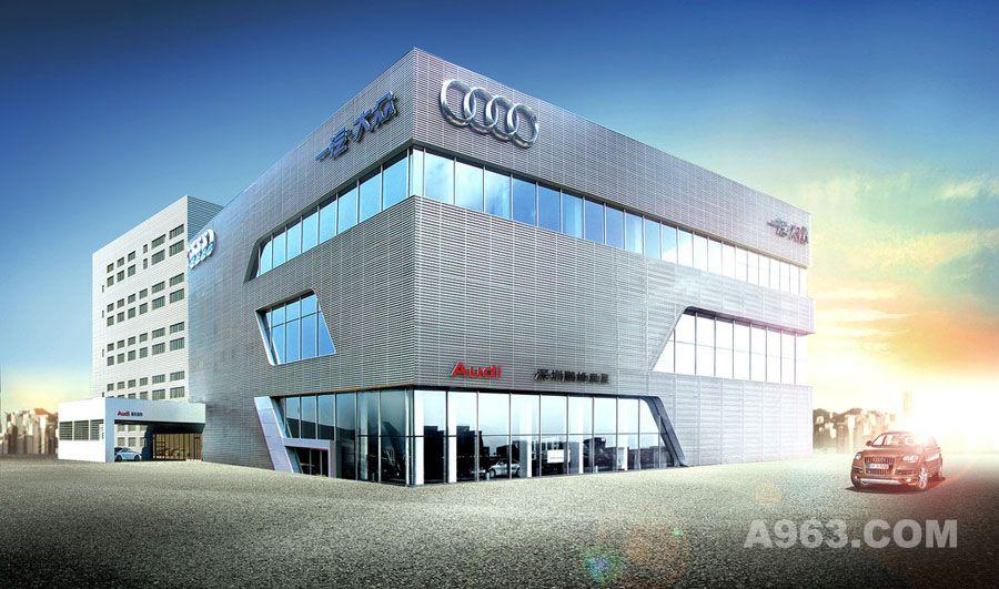 汽车4s店建筑外观设计案例效果图说明