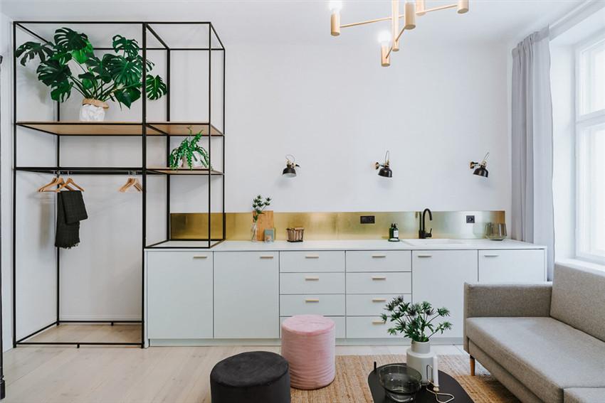 波兰一间住家公寓改造短租公寓