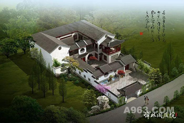 中式庭院建筑鸟瞰效果图