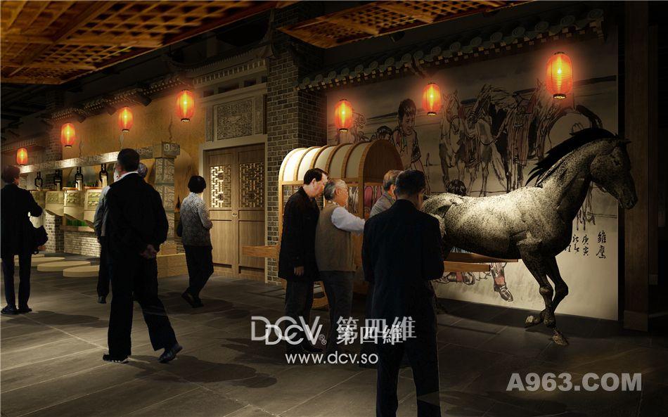 西安周边文化主题商业综合体室内设计-甘肃·庆州老街