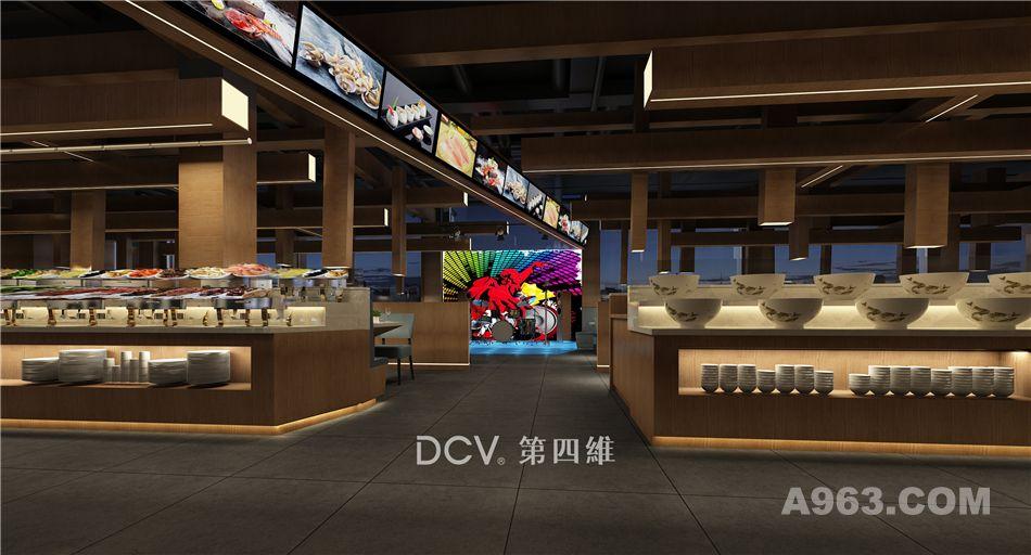 西安DCV第四维设计团队打造-安康味自在复合自助餐厅