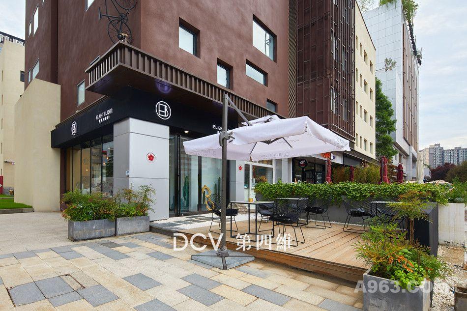 西安-网红INS风EB眼镜咖啡主题餐厅室内装修设计