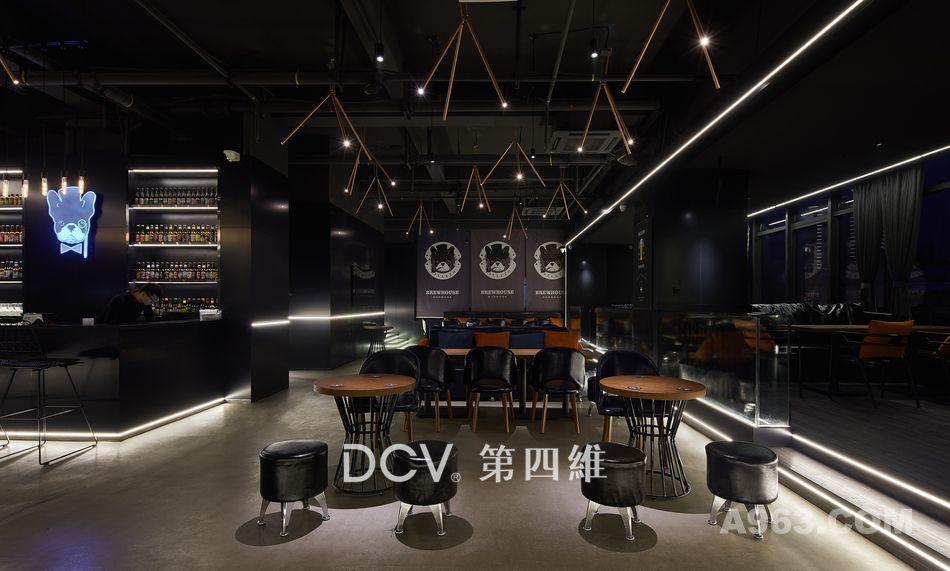 西安-酵徒精酿啤酒馆复合式餐厅室内装修设计