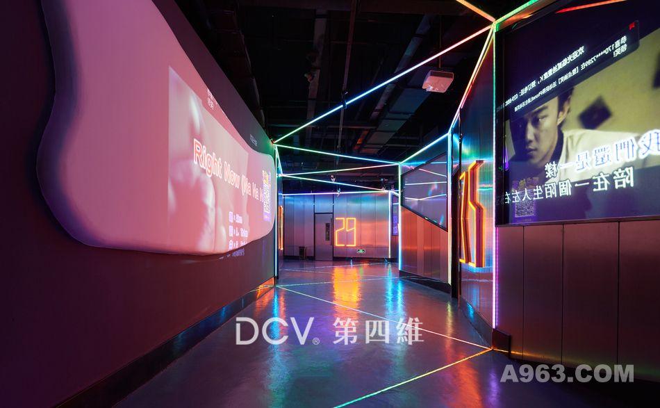 西安-21度K强音娱乐量贩KTV设计(T11 Block生活街区)充满现代科技感