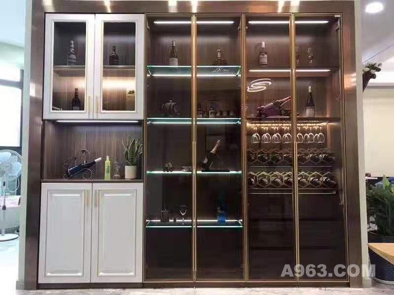 铝框门板酒柜