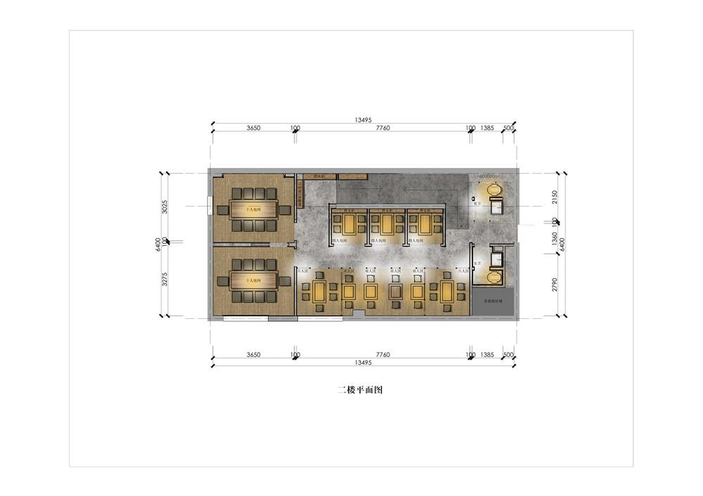 二楼平面布置图
