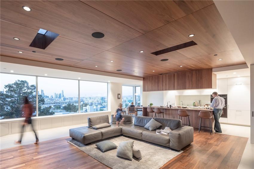 277㎡木质系老宅翻新,旧金山半开放式顶层公寓