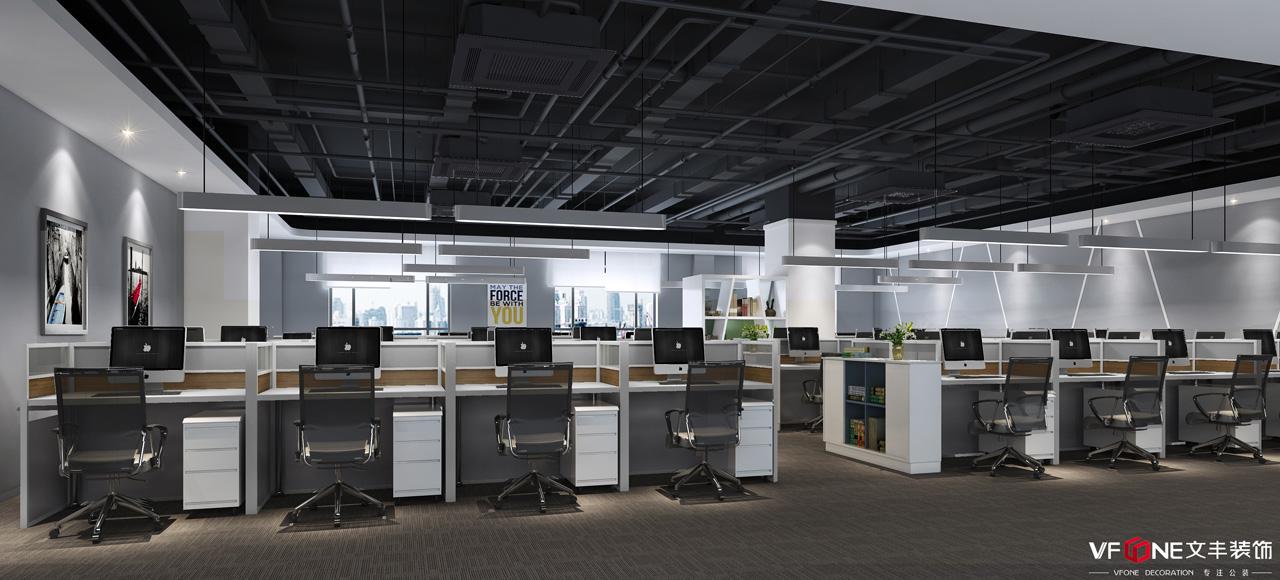 网红南山办公室装修设计——办公区装修效果图
