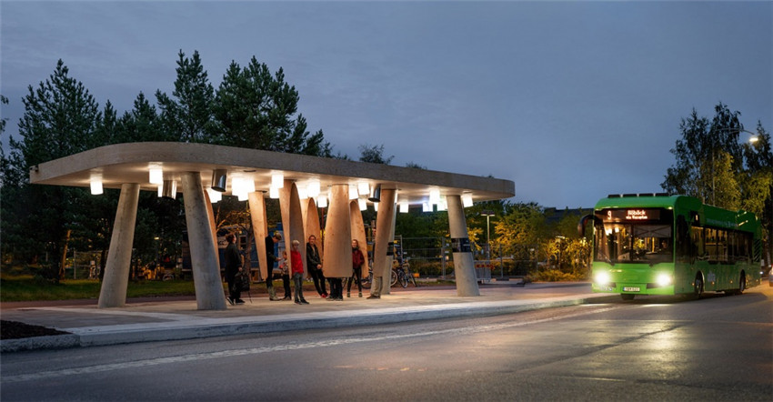 "新型的实验性公交车站""Station of Being""智能公交站"