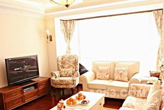 布艺沙发装修美式简约客厅效果图