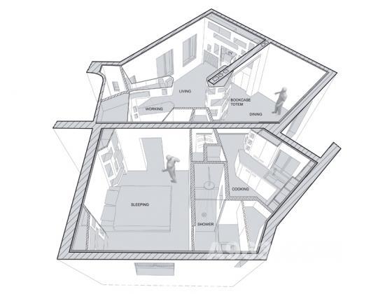 法国浙江的前后公寓作业/h2o建筑师事务所巴黎电大园林设计形成考核设计图片