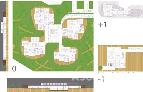 """幼儿园""""是斯洛文尼亚建筑事务所ofis所做的一个方案设计.设"""