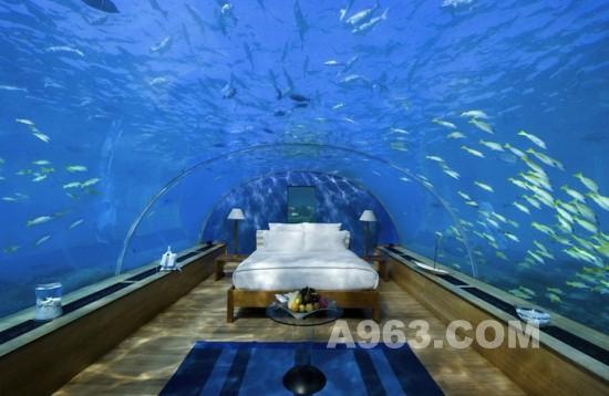令人难忘的马尔代夫水下酒店设计