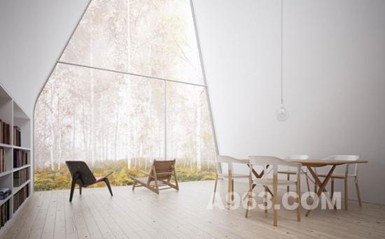 A型住宅设计 Allandale House 森林木屋