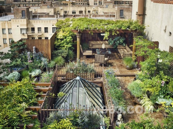 屋顶花园设计 城市建设的绿色空间