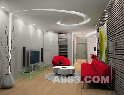 20款客厅吊顶装修设计效果图安全实用美观 2 中