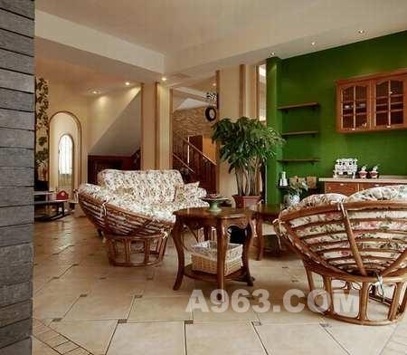 300平别墅中式混搭别墅水表装修设计漂亮!田园多风格大图片